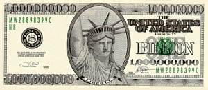 Liberty Billion Dollar Bill